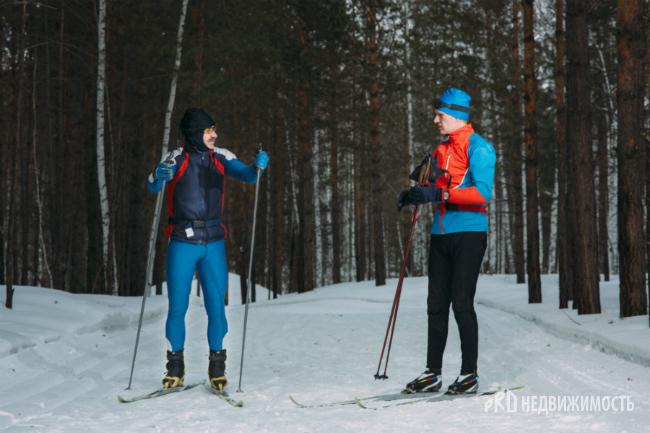 Лыжные трассы расположены как